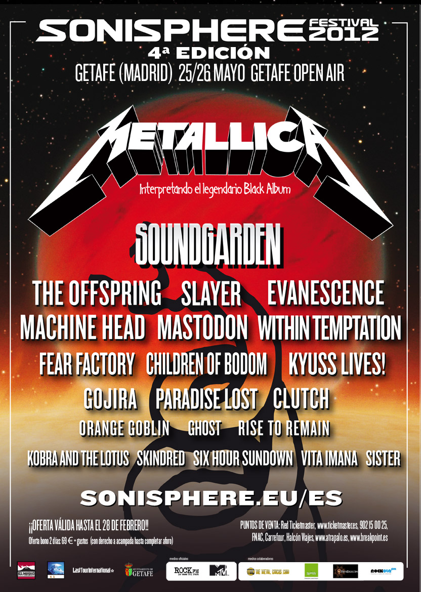 Machine Head, The Offspring, Fear Factory, Evanescence en el Sonisphere Festival 2012 (Getafe)