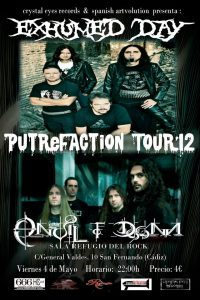 Exhumed Day putrefaction 2012