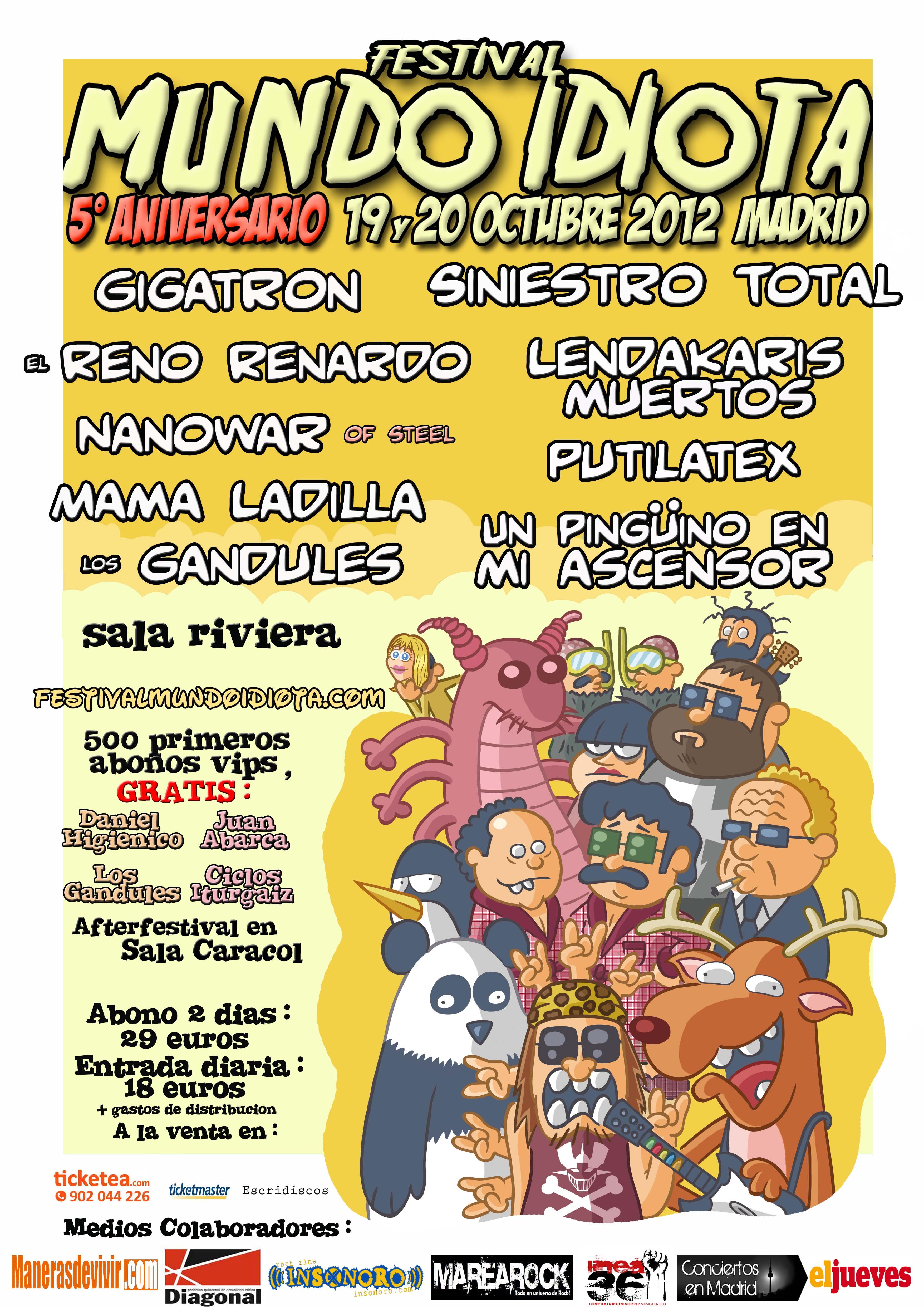 Festival Mundo Idiota 2012 (19 y 20 de octubre)