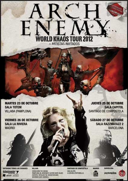 Arch Enemy visita nuestro país en octubre