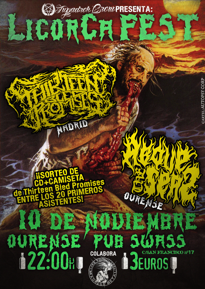 LICORCA FEST (Thirteen Bled Promises + Above The Seas) en Ourense