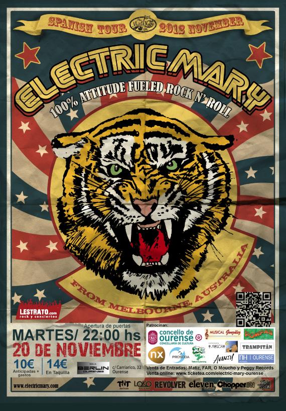 Concierto Electric Mary en Ourense