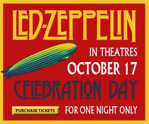 El DVD de la reunión de Led Zeppelin se verá en algunos cines españoles