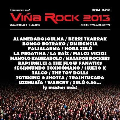 Primeras confirmaciones del ViñaRock 2013