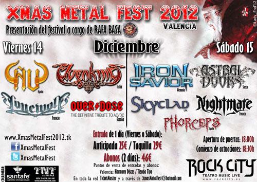 XMAS Metal Fest 2012, 14 y 15 de Diciembre en Valencia