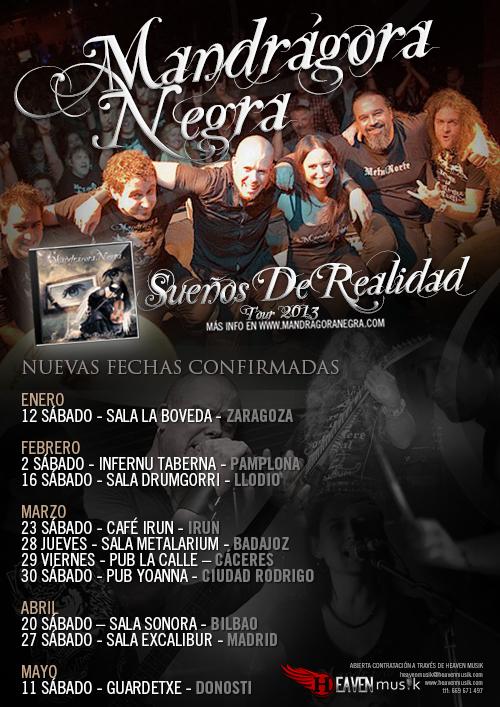 Mandrágora Negra: Nuevas fechas de su gira