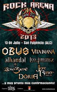 Festival Rock Arena, 13 de Julio en San Fulgencia (Alicante)
