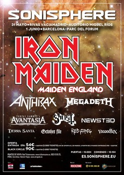 Sonisphere 2013 se completa con Anthrax, Megadeth y Newsted
