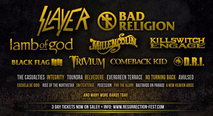 El Resurrection Fest 2013 sigue sumando bandas a su espectacular cartel