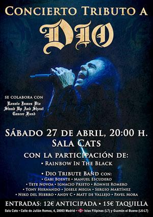 Trbiuto a Dio el próximo 27 de Abril en la Sala Cats de Madrid