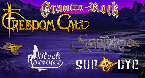 Cartel completo para el GranitoRock el 27 de Julio