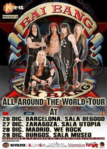 Gira de los Hard Rockeros Bai Bang por España