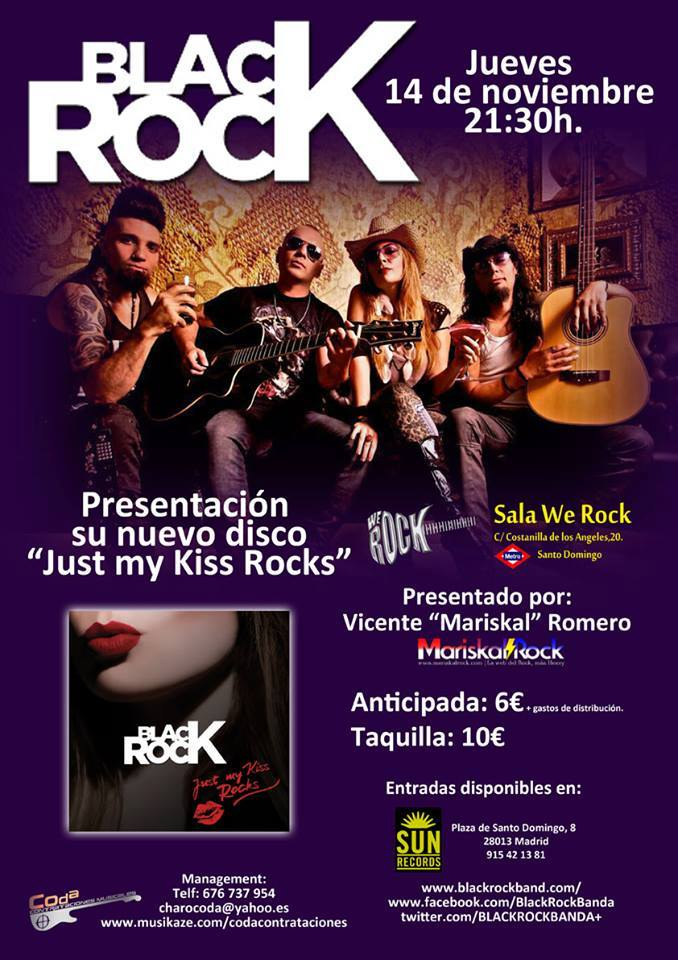 Black rock anuncian la salida de su nuevo disco just my for Sala we rock