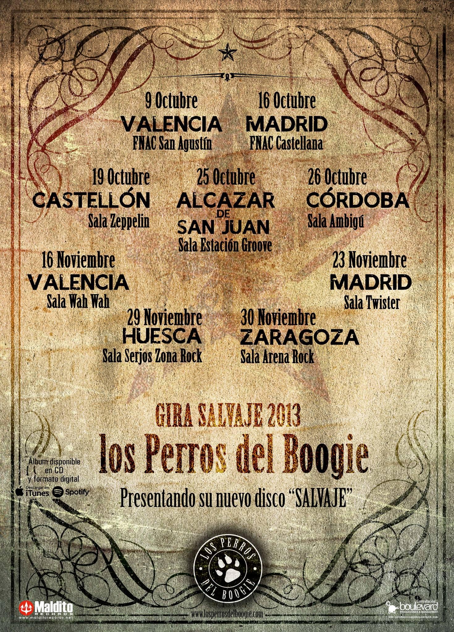 LOS PERROS DEL BOOGIE gira salvaje 2013