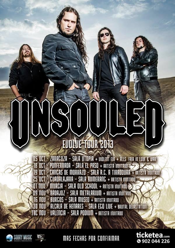 """UNSOULED: """"EVOLVE TOUR"""" 2013 POR ESPAÑA"""