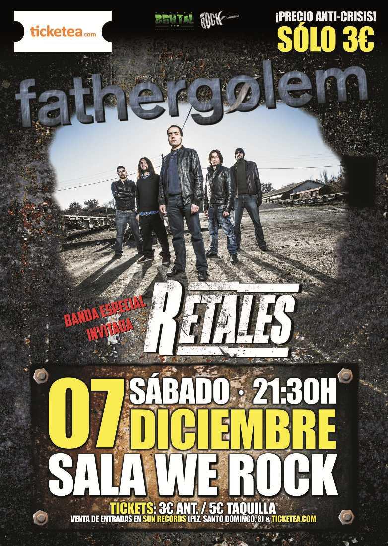 Retales sustituyen a Corpore el próximo sábado en la sala We Rock de Madrid