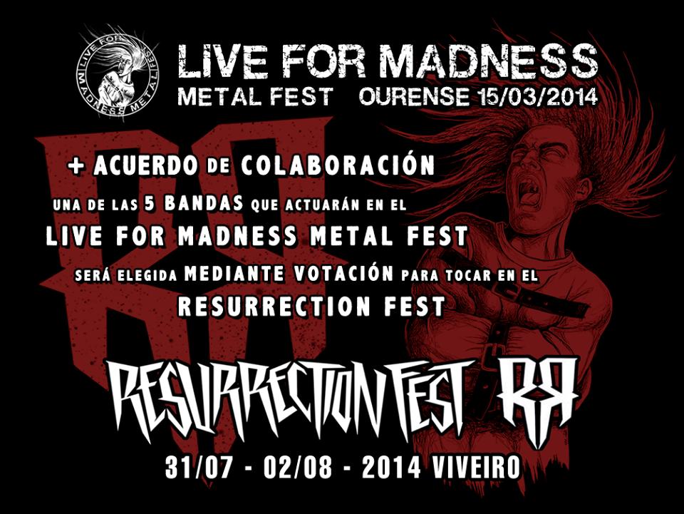 Live For Madness Metal Fest renueva acuerdo de colaboración con el Resurrection Fest