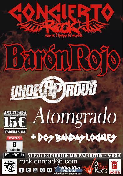 Barón Rojo actuará en Soria el 8 de Marzo