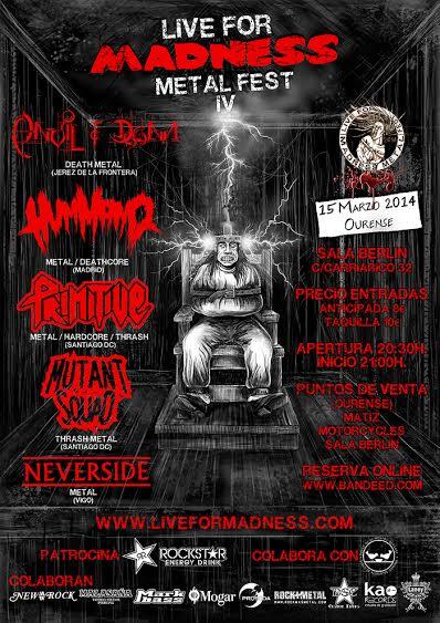 Todos los detalles del IV Live For Madness Metal Fest