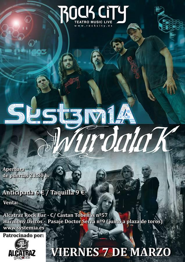 Systemia y Wurdalak en la Sala Rock City de Valencia