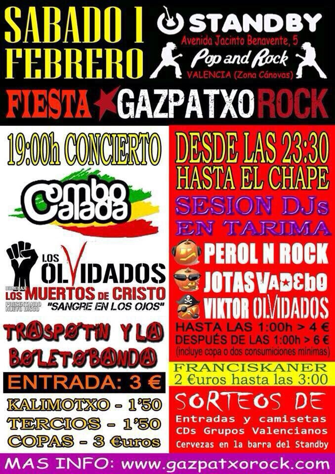 V Fiesta Gazpatxo Rock en Standby (Valencia)