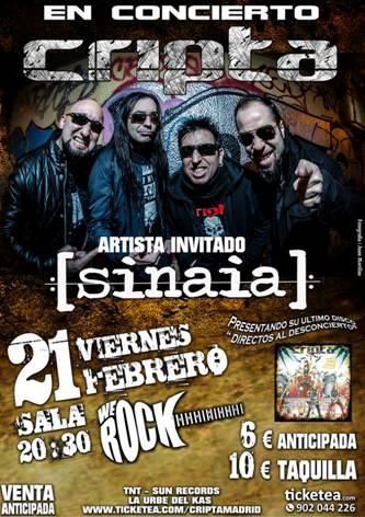 CRIPTA concierto en Madrid presentando su nuevo disco