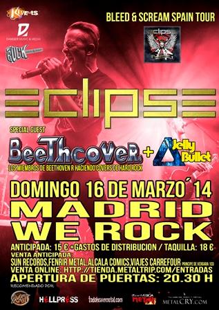 Detalles del concierto de Eclipse en Madrid