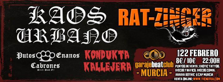 KAOS URBANO y RAT-ZINGER encabezan la edición murciana de Working Class Fest