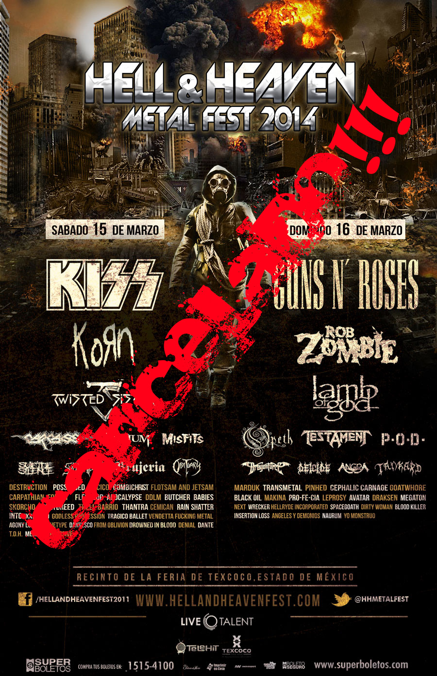 """Hell & Heaven Metal Fest 2014"" Cancelado"