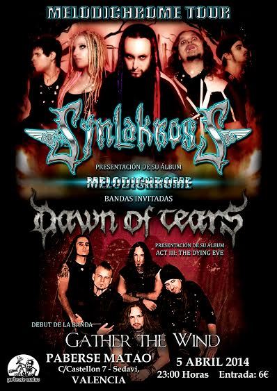 Synlakross, Dawn of Tears y Gather The Wind en la Sala Paberse Matao (Valencia)