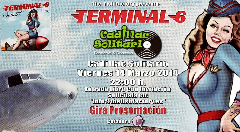 TERMINAL 6 éste Viernes 14 de Marzo en Madrid con entrada gratuita