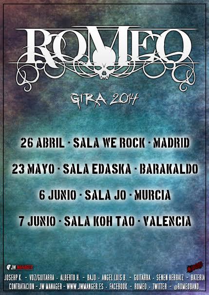 ROMEO desvela las fechas de su gira regreso 2014