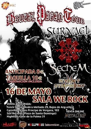 Brutal Pagan Tour desembarca en Madrid el 16 de Mayo