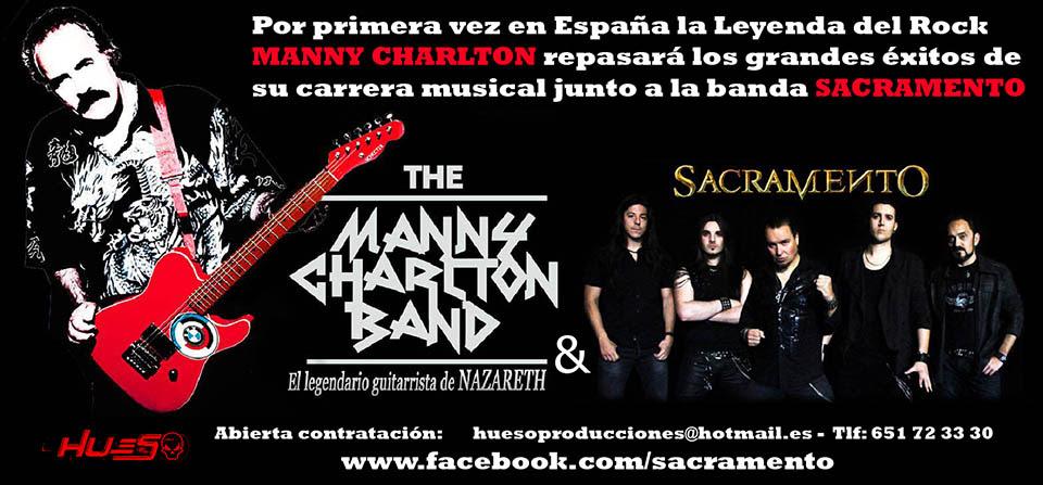 Manny Charlton actuará en España junto a Sacramento