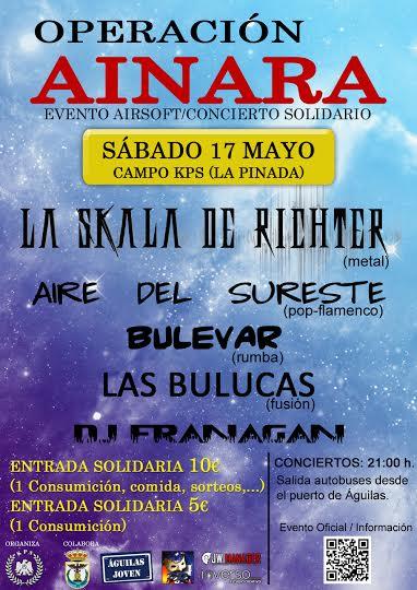 OPERACIÓN AINARA: Evento solidario este fin de semana en Águilas (Murcia)
