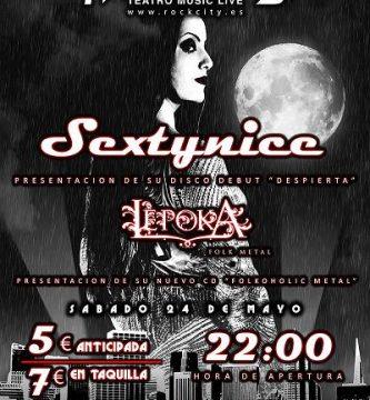 Sextynice Sábado 24 de Mayo en Rock City Valencia