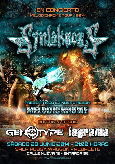 """SYNLAKROSS, Próxima fecha del """"Melodichrome Tour"""" 28 Junio en Albacete"""
