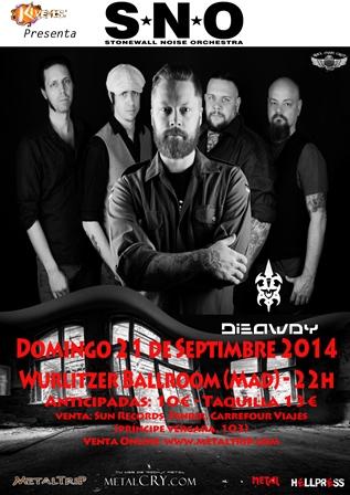 Primera visita de los suecos Stonewall Noise Orchestra (S.N.O.) a Madrid