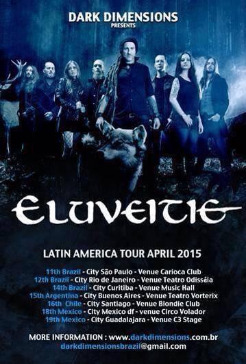 Eluveitie Confirma Tour Latinoamericano Para 2015