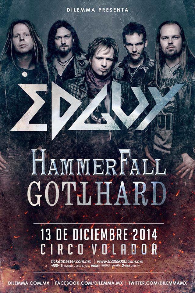 Gotthard + Hammerfall + Edguy – México 13-12-14 (Circo Volador)