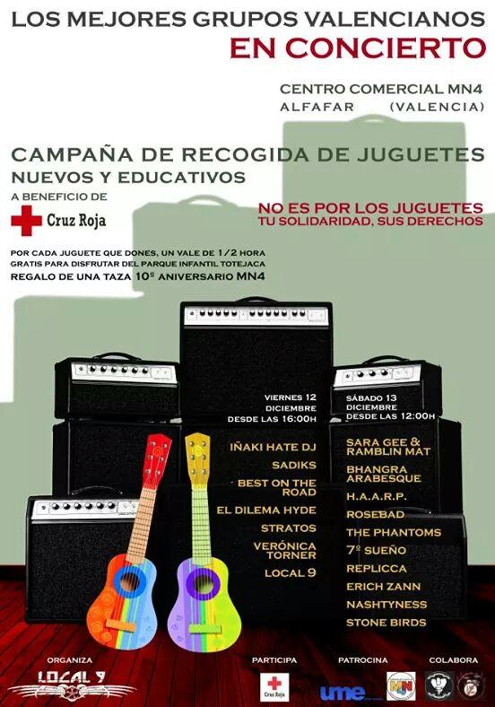 Concierto a beneficio de la campaña de recogida de juguetes de cruz roja