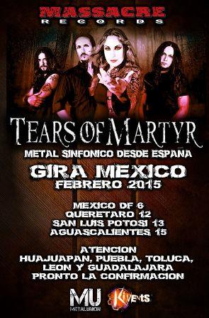 Tears of Martyr visitará por primera vez México en gira en Febrero de 2015