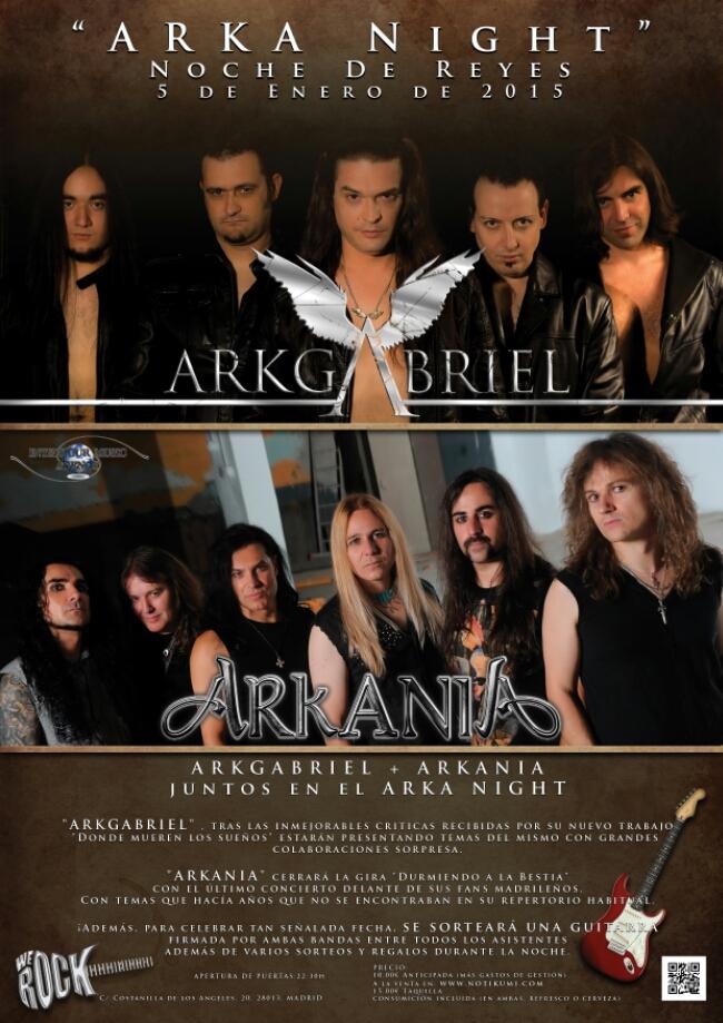 """La noche de reyes ARKANIA+ARKGABRIELjuntos en el """"ARKA NIGHT"""""""