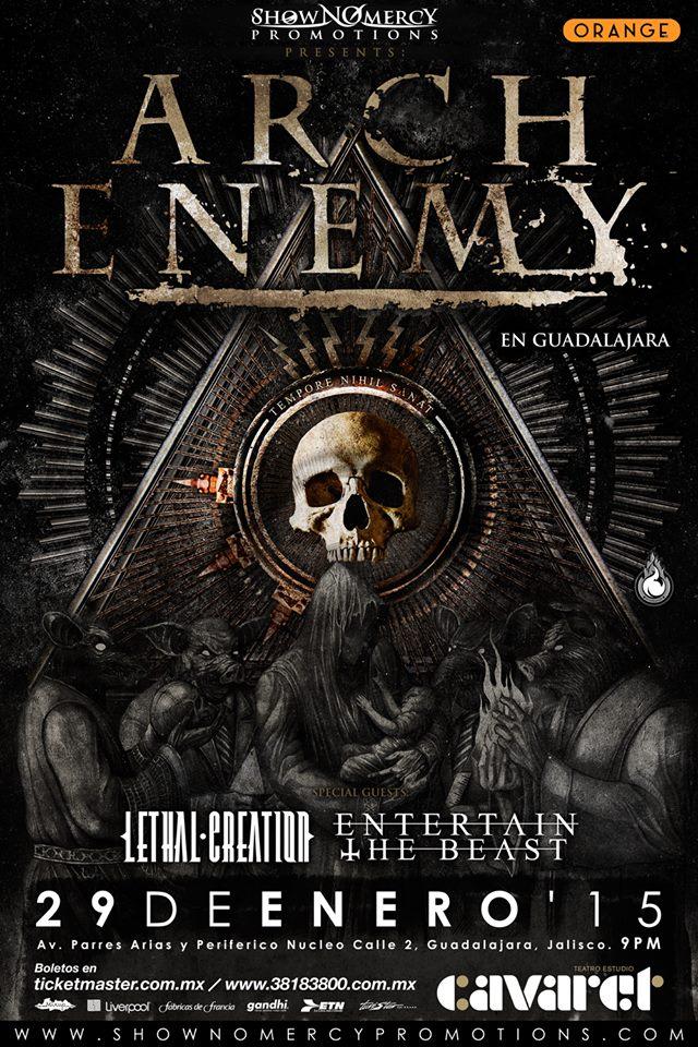 Arch Enemy llegan con su Guerra Eterna a Guadalajara México