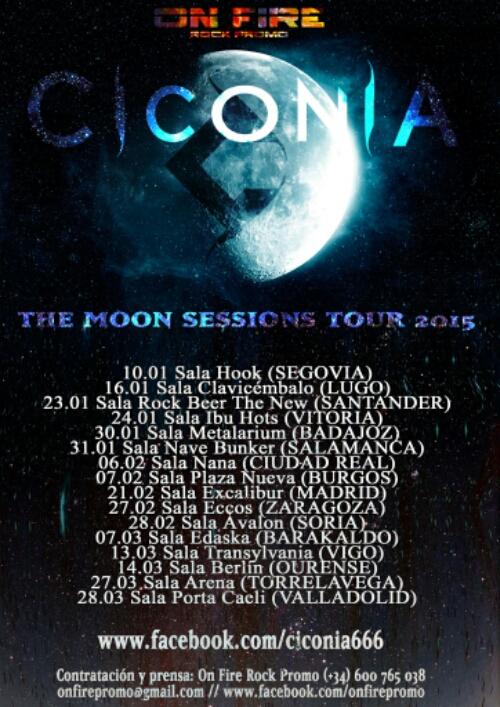 """Ciconia comienza su gira """"The Moon Sessions Tour 2015"""""""
