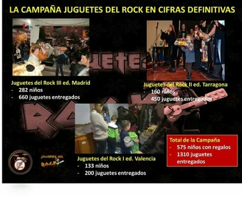 """Primera edición de la campaña """"Juguetes Del Rock"""" en Valencia"""