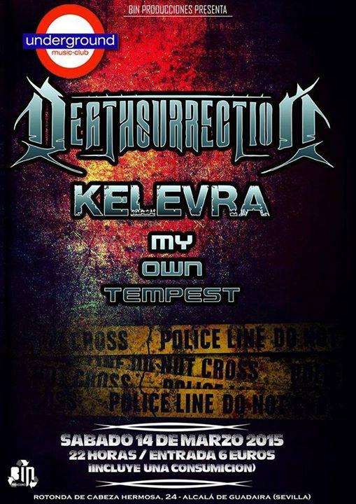 CRÓNICA DEATHSURRECTION + KELEVRA + MY OWN TEMPEST EN SEVILLA
