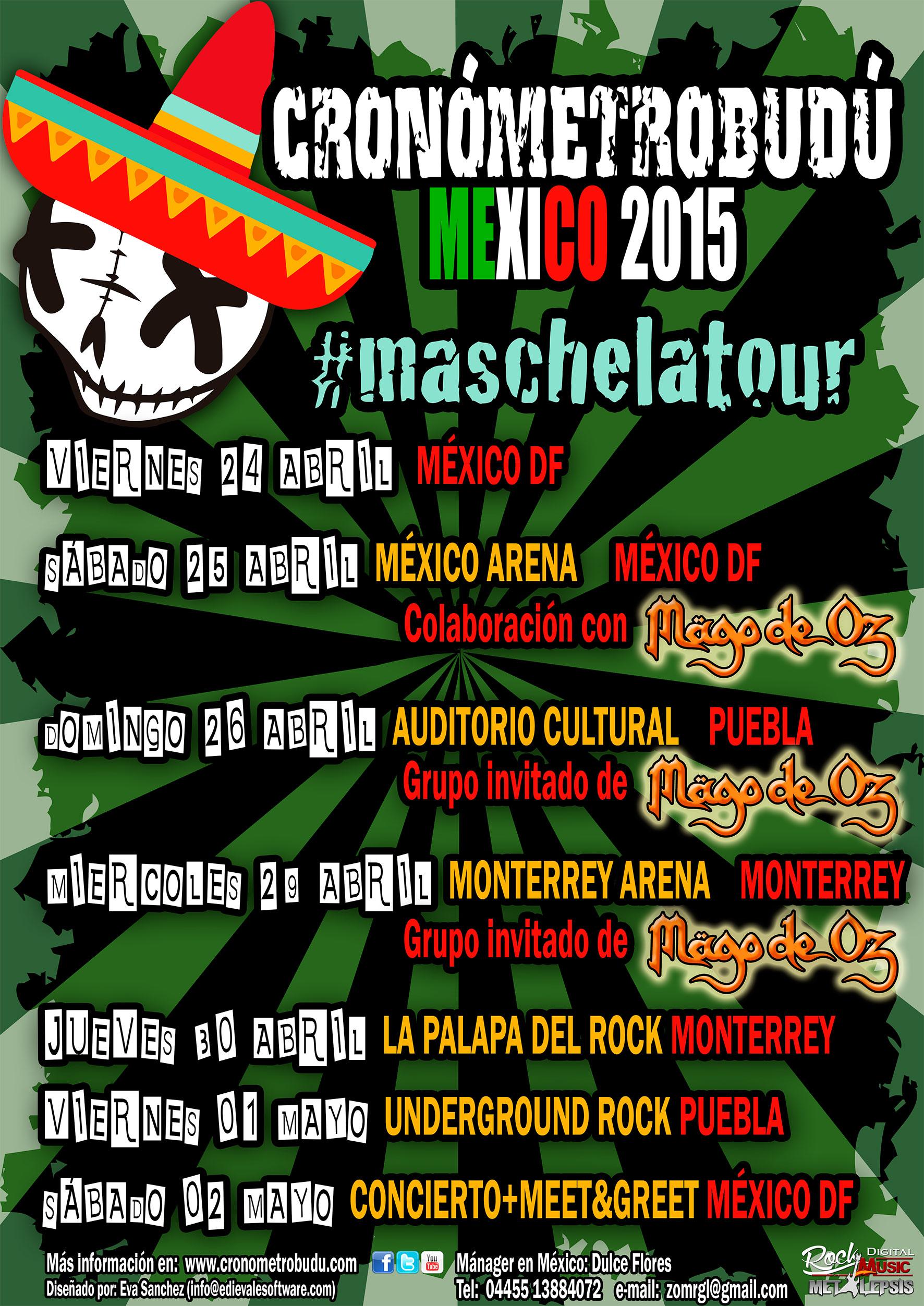 Cronómetrobudú y Mago de Oz, juntos en México