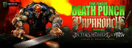 FIVE FINGER DEATH PUNCH anuncian salida de nuevo disco en 2015 y gira junto a Papa Roach por norteamérica
