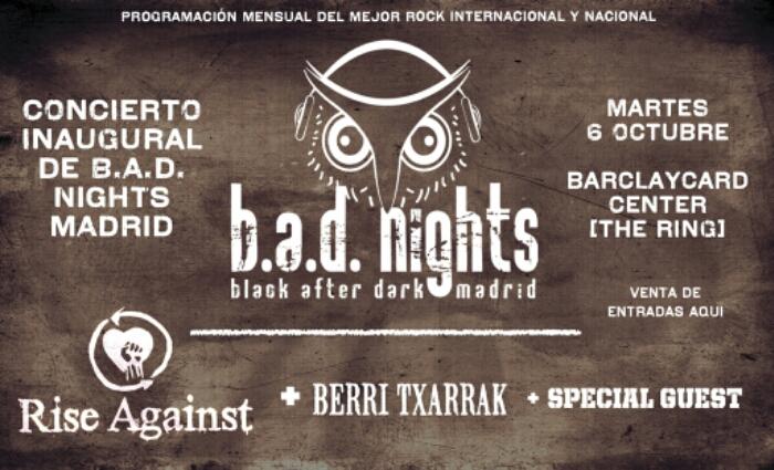 Berri Txarrak se suma a la gira de Rise Against